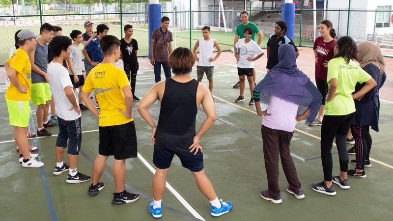 Team building through sports